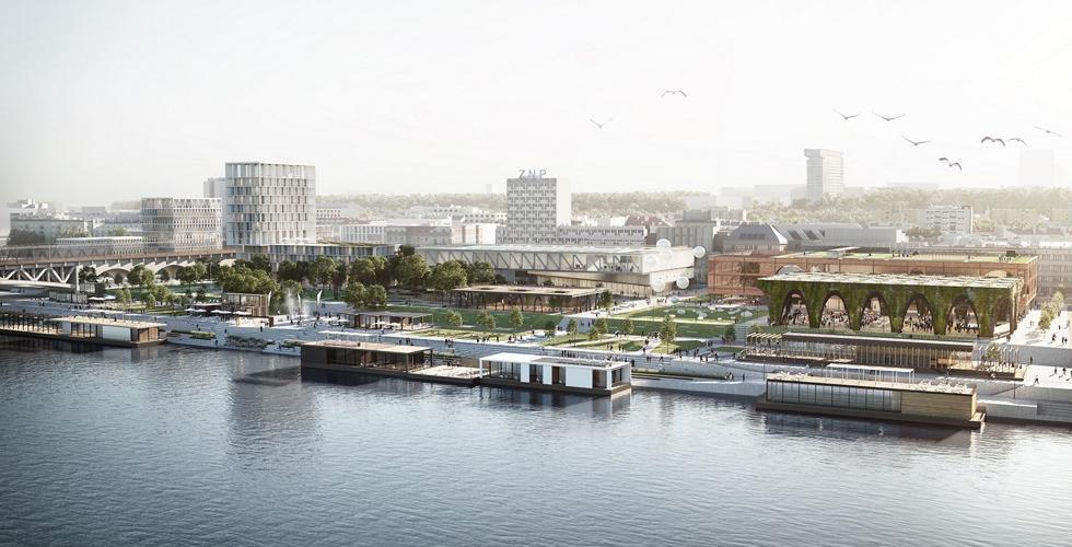 Warszawa jeszcze bliżej rzeki. WXCA zaprojektuje kolejny odcinek bulwarów nad Wisłą